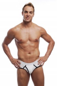 Go Softwear California Colors Piping Boy Brief Underwear White/Black 2021