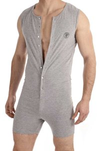 L'Homme Invisible Onesie Bodysuit Grey HW137-LOU-GC1