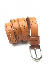 Spy Henry Lau Pin Buckled Casual Belt Brown SP788AC64CGTHK