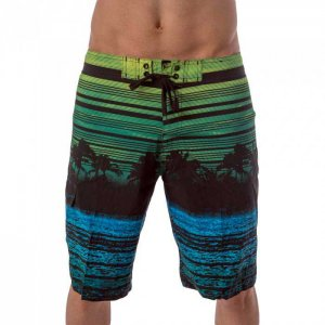 Lord Tropical Stripes Boardshorts Beachwear Green MA001