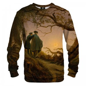 Mr. Gugu & Miss Go Two Men Contemplating The Moon Unisex Sweater S-PC1554