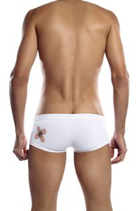 Petit-Q Back Plaster Brief Bikini Swimwear White Pq14