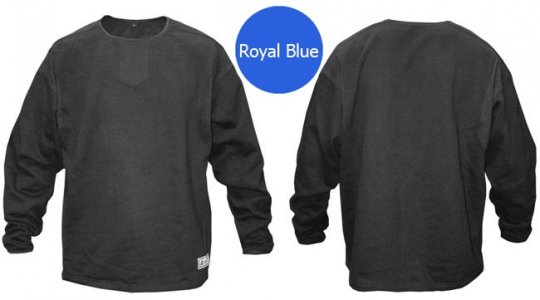 Akadema Fleece Long Sleeved T Shirt Royal Blue SBPSW