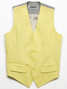 Sopopular Sharon Vest Coat Lime Light/Light Grey 729-11-140441