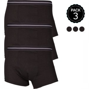 Marginal [3 Pack] Boxer Brief Underwear Black T013-2