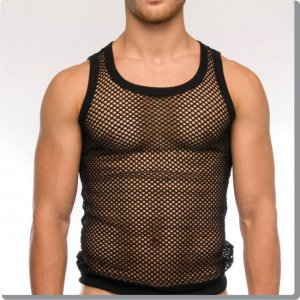 Modus Vivendi C-Through Tank Top T Shirt Black 07731