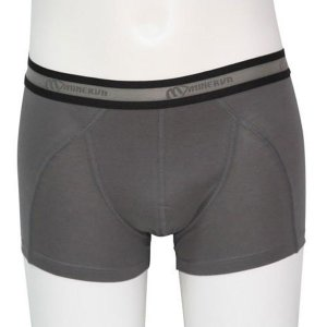 Minerva Micro Cotton Boxer Brief Underwear Graphite 21010