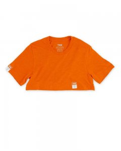 The Well Branded Classix Max Crop Top Short Sleeved T Shirt Neon Orange