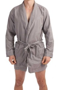 L'Homme Invisible Chill Out Dressing Gown Loungewear Grey HW...