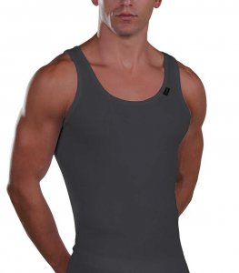Lord Cotton Tank Top T Shirt Charcoal 115