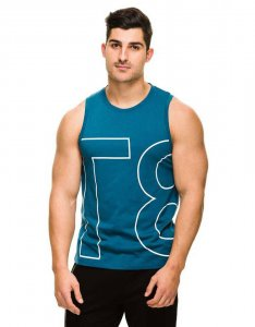 teamm8 Activewear Sideline Athletic Tank Top T Shirt Teal