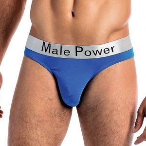Male Power Modal Basics Lo Rise Thong Underwear Blue 438-227