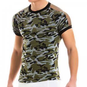 Modus Vivendi Camo C Through Short Sleeved T Shirt Khaki 10941