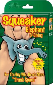 Male Power Novelty Elephant Squeaker G String Underwear 708