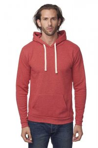 Royal Apparel Unisex Eco Triblend Fleece Pullover Hoody Long Sleeved Sweater Eco Tri True Red 37055