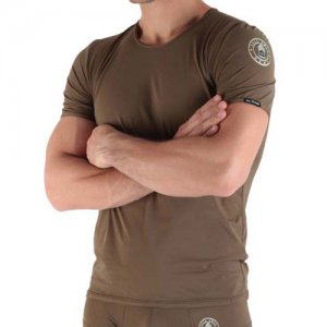 Kale Owen Army Short Sleeved T Shirt Khaki
