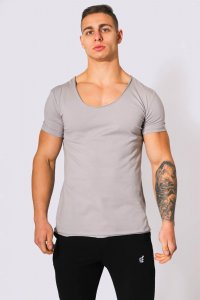 Jed North Origin Scoop Neck Short Sleeved T Shirt Grey JNTOP...