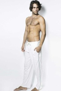 L'Homme Invisible Eric Jersey Lounge Pants White HW121-ERI-002