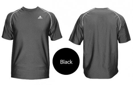 Akadema Performance Tee Short Sleeved T Shirt Black SPWRT