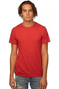 Royal Apparel Unisex Eco Triblend Short Sleeved T Shirt Eco Tri True Red 32051
