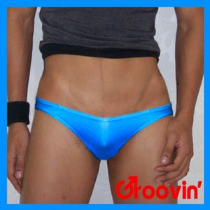Groovin V-Cut Bikini Brief Underwear Blue BV05