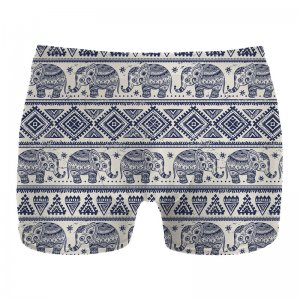 Mr. Gugu & Miss Go Elephants Pattern Boxer Brief Underwear UN1075