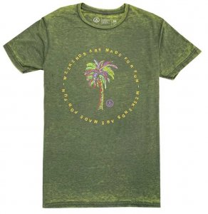 Neff Weekends Are Made For Fun Short Sleeved T Shirt Green 2...