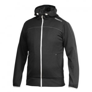 Craft Leisure Full Zip Hood Long Sleeved Jacket Black/Platinum 1901692