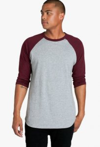 AS Colour 3/4 Raglan Short Sleeved T Shirt 5012