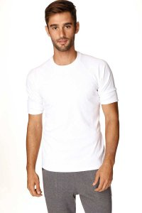 4-rth Hybrid Raglan Short Sleeved T Shirt White
