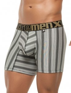 Xtremen Stripe Microfiber Boxer Brief Underwear Black 51385
