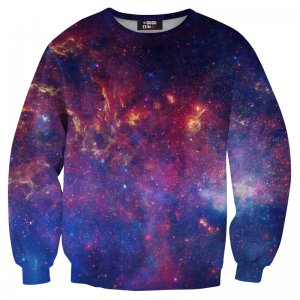 Mr. Gugu & Miss Go Purple Nebula Unisex Sweater S-PC005