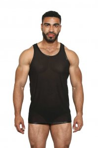 Black Unicorn Micro Mesh Muscle Tank Top T Shirt Black BU089