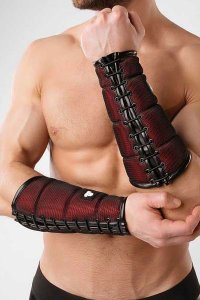 Maskulo Armored Color Under Forearm Guard Wallet Armband Red...