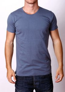 By The People Premium Basic Short Sleeved T Shirt Charcoal