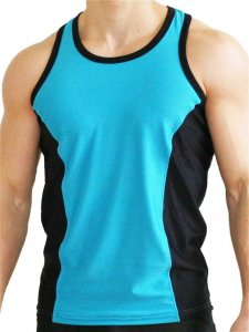 Good Boy Gone Bad Aron Training Tank Top T Shirt Blue/Black