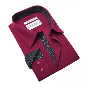 Jordan Jasper Callowhill Long Sleeved Shirt Maroon JJ443
