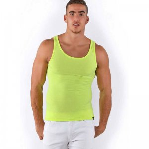 Roberto Lucca Solid Tank Top T Shirt Yellow 80001-00171