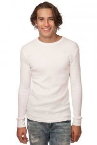 Royal Apparel Unisex Heavyweight Thermal Long Sleeved T Shirt White 28152