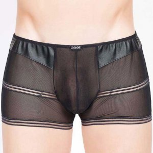 Lookme Hunter Boxer Brief Underwear Black 711-67