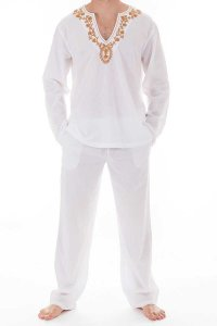 L'Homme Invisible Kassapa Ensemble Pyjamas Loungewear White ...