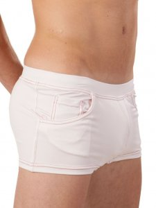 Good Boy Gone Bad Joe Square Cut Trunk Swimwear White/Red
