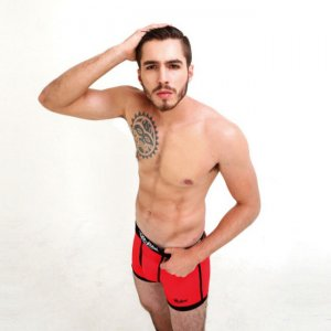 Rock N Fresh Mark Boxer Brief Underwear Scarlet