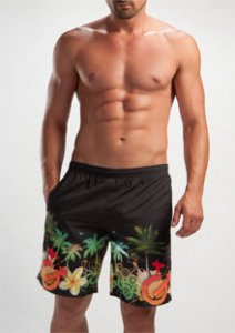 Geronimo Boardshorts Beachwear Black 1201P4