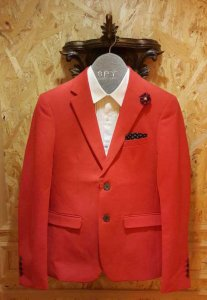 Spy Henry Lau Tailored Jacket Red PH2698MJTRED