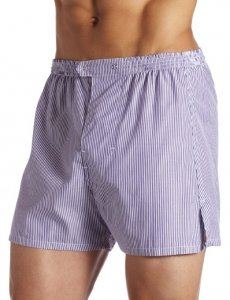 Jake Joseph Luke Bengal Pinstripe Trouser Loose Boxer Shorts Underwear Purple/White 1200