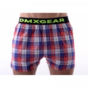 DMXGEAR Tartan Luxury Loose Boxer Shorts Underwear Red/Blue ...