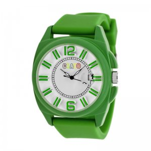 Crayo Sunset Unisex Watch w/Magnified Date - Green CRACR3306