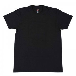 Hanes Nano Light & Soft Short Sleeved T Shirt Black 4980