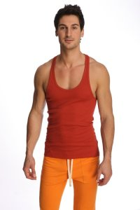 4-rth Racer Back Yoga Tank Top T Shirt Cinnabar